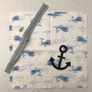 Kissenbezug mit Walen Nähset