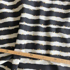 kokka Canvas mit schwarzen Streifen
